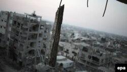 Зруйновані будинки у Смузі Гази в результаті воєнного протистояння між ізраїльтянами і палестинцями, липень 2014 року
