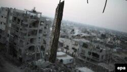 Մարտական գործողությունների հետևանքով ավերակների վերածված շենքեր Գազայի հատվածում, հուլիս, 2015թ․
