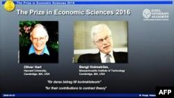 Добитници на Нобеловата награда за економија годинава се економистите Оливер Хант и Бенгт Холмстром