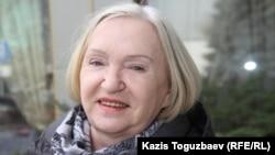 """Тамара Калеева, руководитель прессозащитной организации """"Адил соз"""". Алматы, 11 февраля 2015 года."""