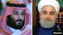 Саудиянын мураскер ханзаадасы Мухаммад Бин Салман (солдо) жана Ирандын президенти Хасан Роухани
