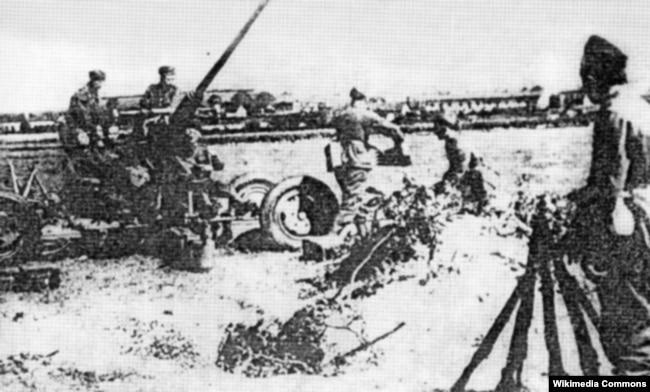 Польская зенитная артиллерия во Львове. 1939 год