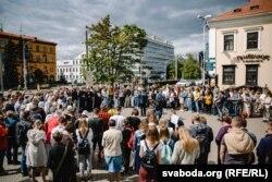 Молебен в центре Минска