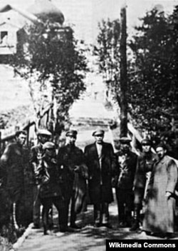 Maxim Gorki în vizită la Solovki