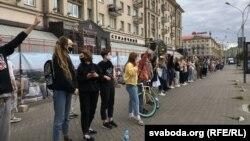 """Lanci solidarnosti"" u Minsku, 12. avgust"