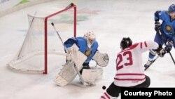 Финальный матч по хоккею между сборными Казахстана и Канады. Трентино, 21 декабря 2013 года.