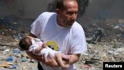 Сүриянең Хәлеб шәһәрен бомбалаудан соң
