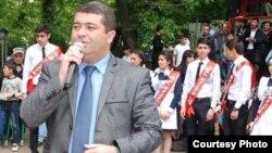 Parlament seçkisini Marneulidən qazanmış Ruslan Hacıyev. oct2016