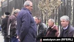 Նաիրիտցիների ցույցը Ազգային ժողովի մոտ, 26-ը մարտի, 2015թ.