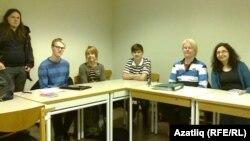 Һелсинки университетында татар теле дәресе