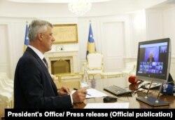 Presidenti Thaçi ka marrë pjesë në mënyrë virtuale në Samitin e Zagrebit.