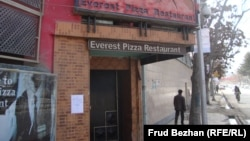 The Everest Pizza Restaurant is among dozens of restaurants catering to Westerners in Kabul that has closed until after the elections.