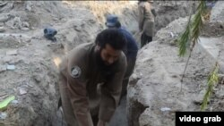 Islamic State fighters dig tunnels that they claim are helping them evade U.S. air strikes near Fallujah, Iraq.