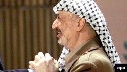Поранешниот палестински лидер Јасер Арафат.