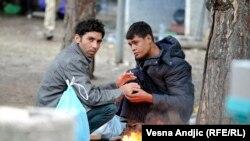 Izbeglice po sve nižim temperaturama i dalje u parku