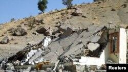 من آثار القصف المدفعي التركي في شمال العراق