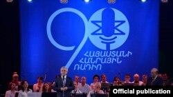 Архив - президент Армении Серж Саргсян посетил Общественное радио, 2016 г.