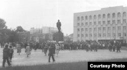 Мітынг у Горадні падчас выбарчай кампаніі, 1990 год