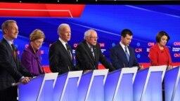 در این مناظره شش تن از نامزدهای حزب دموکرات حضور داشتند.