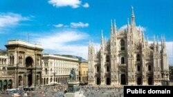 Pamje nga qyteti Milano në Itali