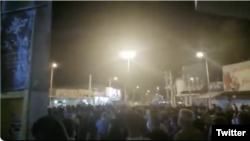 "Protesters in Shiraz, Iran, chanting ""Don't be afraid, We are together"" on July 16, 2020. Screen grab from video on Twitter."