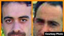 عدنان حسن پور (چپ) و هیوا بوتیمار، دو روزنامه نگار مریوانی هستند که به اعدام محکوم شده اند.
