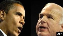 АКШнын президенттигине талапкерлер - демократ Барак Обама жана республикачыл Жон Маккейн