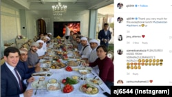 Зятья президента Узбекистана Шавката Мирзияева и наследный принц Дубая Хамдан бин Мохаммедаль-Мактум. Фото взято со страницы Ahmad Jaber Al Harbi в Instagram'е.