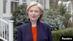 Hillary Clinton speaks in a video launching her bid for the 2016 Democratic presidential nomination on April 12.