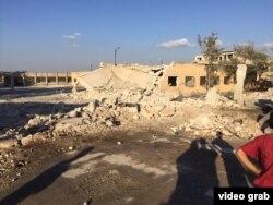 Наслідки російського бомбового удару по польовому госпіталю Сирійсько-американського медичної спільноти в місті Сармін. 20 жовтня 2015 року