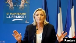 Marine Le Pen, the leader of France's far-right National Front party