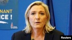 Лидер партии «Национальный фронт» Франции Марин Ле Пен.