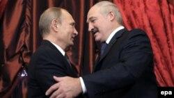 Ռուսաստանի նախագահ Վլադիմիր Պուտին և Բելառուսի նախագահ Ալեքսանդր Լուկաշենկո, Մոսկվա, Կրեմլ, 23-ը դեկտեմբերի, 2014թ․