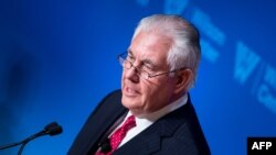 US Secretary of State Rex Tillerson made his remarks at a Woodrow Wilson Center event in Washington on November 28.