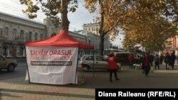Cortul PSRM în faţa Primăriei Chişinău
