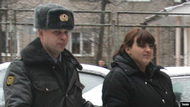 Russian activist Taisiya Osipova (right) was also jailed on contentious drugs charges.