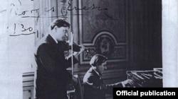 Alfred Cortot în recital cu George Enescu (coll. Jean Cortot)