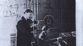 Alfred Cortot în duo George Enescu (Sursa: colecția Jean Cortot)