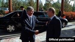 Атамбаев жана Путин, Душанбе шаары, 15-сентбярь, 2015-жыл.