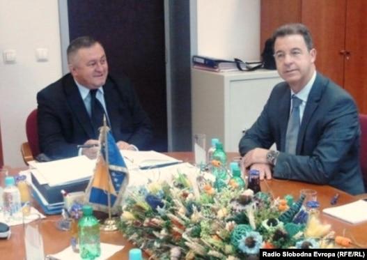 Milorad Barašin i Serge Brammertz u Sarajevu, 19. oktobra