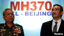 """Представители руководства Малайзии на пресс-конференции в марте 2014 года по поводу пропавшего """"Боинга"""""""