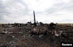 Уламки літака ІЛ-76. 14 червня 2015 року