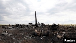 На місці катастрофи Іл-76, Луганщина, 14 червня 2014 року