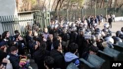 Акция протеста в Тегеране, 30 декабря 2017 года