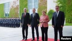 Članovi Predsjedništva BiH i njemačka kancelarka Angela Merkel, Berlin, 30. juni 2016.