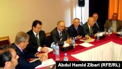 جانب من اجتماع قوى مسيحية عراقية فى اربيل