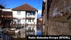 Поплави во струшкото село Мислешево.