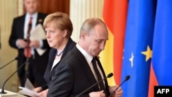 La conferința de presă de la Kremlin (AFP Photo/Kiril Kudrianțev)