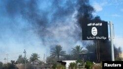 """Флаг экстремистской группировки """"Исламское государство"""" (иракская провинция Дияла, 24 ноября 2014 года)"""