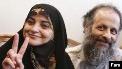 معصومه شفیعی همسر اکبر گنجی